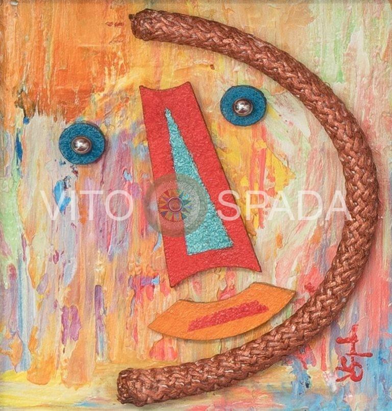 ASTRATTO - Polimaterico, stucco, acrilico, 10x10, 2017