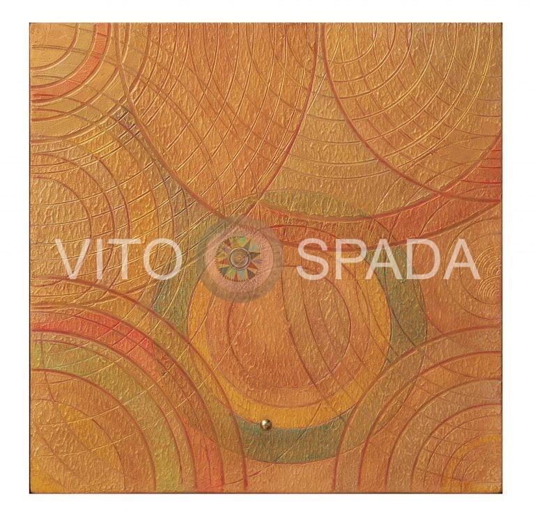 GEOMETRIA VARIABILE - materico, arilico,stucco. su mdf,40x40, 2019